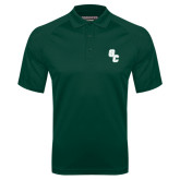 Dark Green Textured Saddle Shoulder Polo-GC