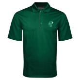 Dark Green Mini Stripe Polo-Official Logo
