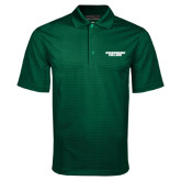 Dark Green Mini Stripe Polo-Solid Wordmark