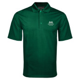 Dark Green Mini Stripe Polo-Greensboro College
