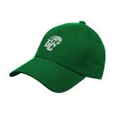 Kelly Green Heavyweight Twill Pro Style Hat-GC w Lions