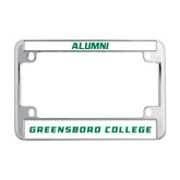 Metal Motorcycle License Plate Frame in Chrome-Greensboro College