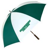 62 Inch Forest Green/White Umbrella-Wordmark