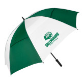 62 Inch Forest Green/White Umbrella-Primary Mark