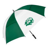 62 Inch Forest Green/White Umbrella-Lions