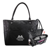 Sophia Checkpoint Friendly Black Compu Tote-Greensboro College