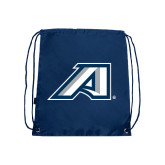Nylon Navy Drawstring Backpack-Victory A