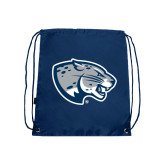 Navy Drawstring Backpack-Jaguar Head