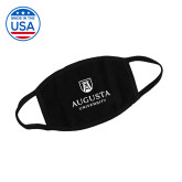 USA Made Black 3 Ply Cotton Mask-Facemask Logo