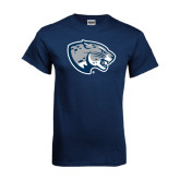 Navy T Shirt-Jaguar Head