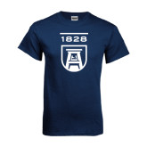 Navy T Shirt-University Mark 1828