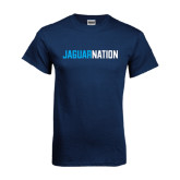 Navy T Shirt-Jaguar Nation