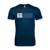 Next Level SoftStyle Navy T Shirt-Go Jags