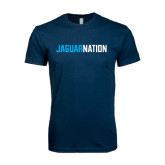 Next Level SoftStyle Navy T Shirt-Jaguar Nation