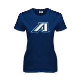 Ladies Navy T Shirt-Victory A