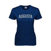 Ladies Navy T Shirt-Augusta