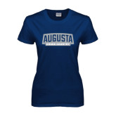 Ladies Navy T Shirt-Cross Country