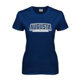 Ladies Navy T Shirt-Cheerleading
