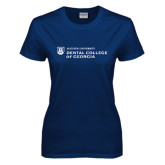 Ladies Navy T Shirt-Dental College of Georgia
