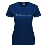Ladies Navy T Shirt-College of Nursing