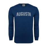 Navy Long Sleeve T Shirt-Augusta