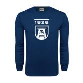 Navy Long Sleeve T Shirt-University Mark 1828