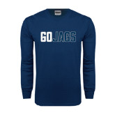 Navy Long Sleeve T Shirt-Go Jags
