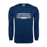 Navy Long Sleeve T Shirt-Tennis