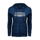 ENZA Ladies Navy Fleece Full Zip Hoodie-Tennis