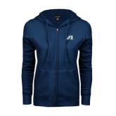 ENZA Ladies Navy Fleece Full Zip Hoodie-Victory A