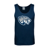 Navy Tank Top-Jaguar Head