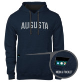 Contemporary Sofspun Navy Heather Hoodie-Augusta