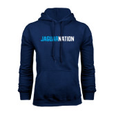 Navy Fleece Hood-Jaguar Nation