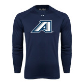 Under Armour Navy Long Sleeve Tech Tee-Victory A