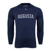 Under Armour Navy Long Sleeve Tech Tee-Augusta