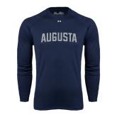 Under Armour Navy Long Sleeve Tech Tee-Augusta