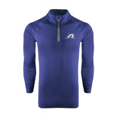 Under Armour Navy Tech 1/4 Zip Performance Shirt-Victory A