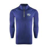 Under Armour Navy Tech 1/4 Zip Performance Shirt-Jaguar Head