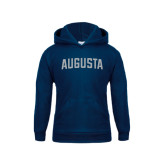 Youth Navy Fleece Hoodie-Augusta