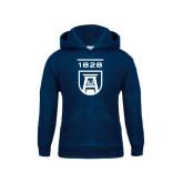 Youth Navy Fleece Hood-University Mark 1828