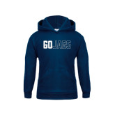 Youth Navy Fleece Hood-Go Jags