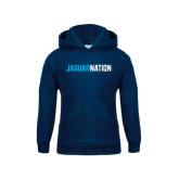 Youth Navy Fleece Hood-Jaguar Nation