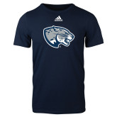 Adidas Navy Logo T Shirt-Jaguar Head