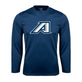 Performance Navy Longsleeve Shirt-Victory A