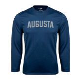 Performance Navy Longsleeve Shirt-Augusta