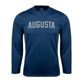 Syntrel Performance Navy Longsleeve Shirt-Augusta