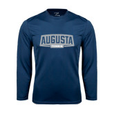 Performance Navy Longsleeve Shirt-Tennis