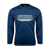 Performance Navy Longsleeve Shirt-Track and Field