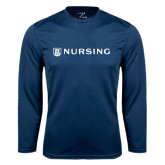 Performance Navy Longsleeve Shirt-Nursing
