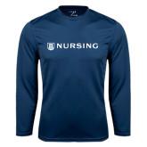 Syntrel Performance Navy Longsleeve Shirt-Nursing
